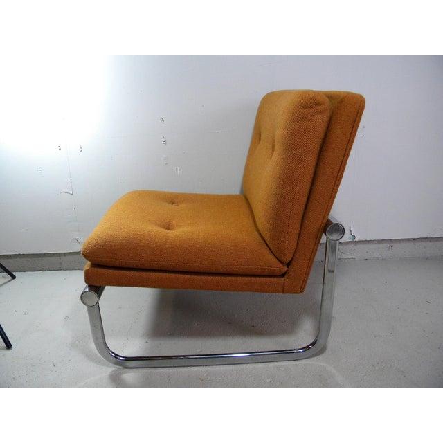 Mid Century Armless Chrome Chair - Image 6 of 6