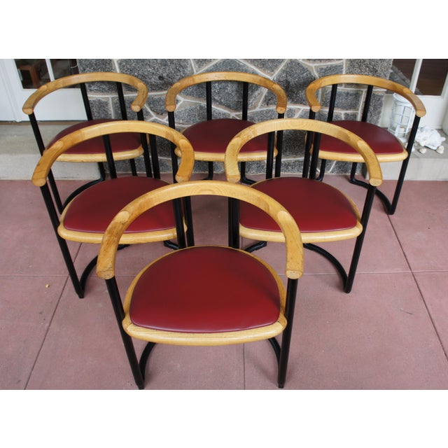 Ycami Collection Barrel Dining Chairs - Set of 6 - Image 4 of 11
