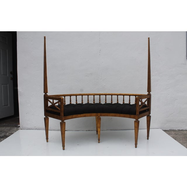 Image of French Antique Curved Two Poster Giltwood Settee