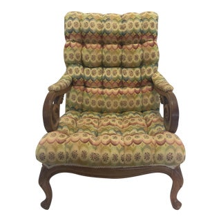 Tufted Slant Back Chair