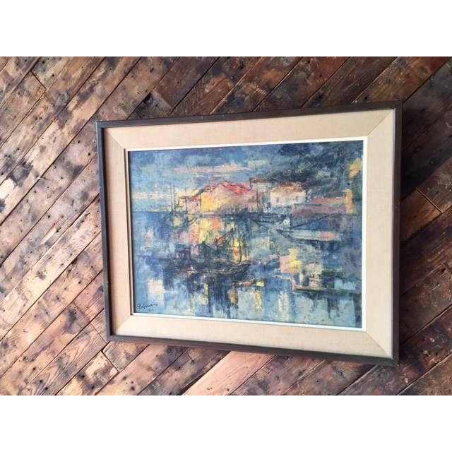 Image of Mid Century Vintage Framed Scenic Painting