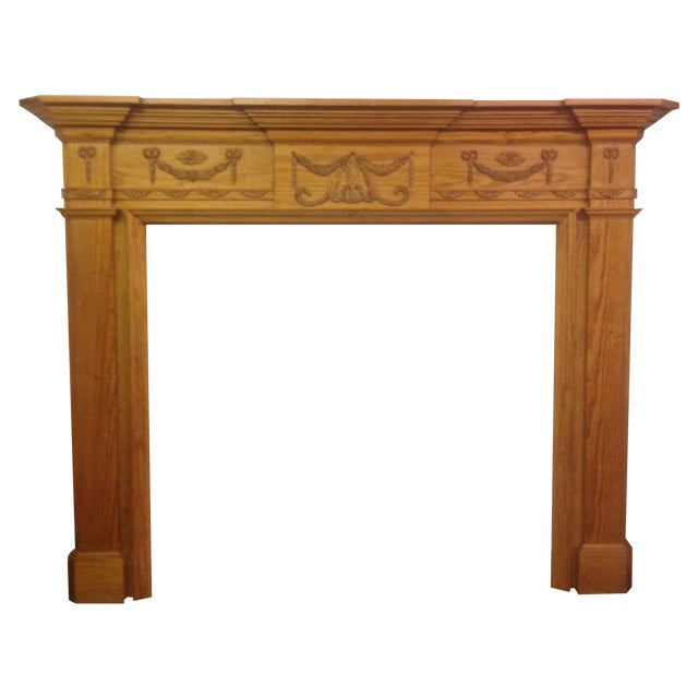 New Pine Fireplace Mantel, Gumps - Image 1 of 9