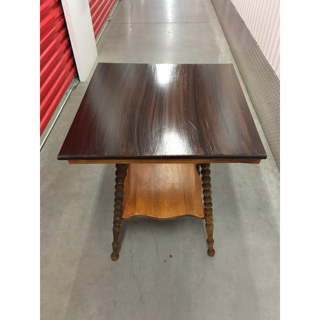 Image of Antique Spindle Leg Parlor Table