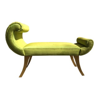 Custom Made Green Chaise Bench