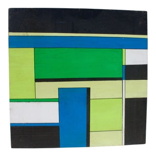 Bryan Boomershine Color Blocks Abstract Painting