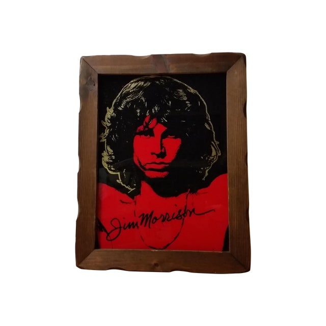 1970 Jim Morrison Reverse Painting on Glass - Image 1 of 5