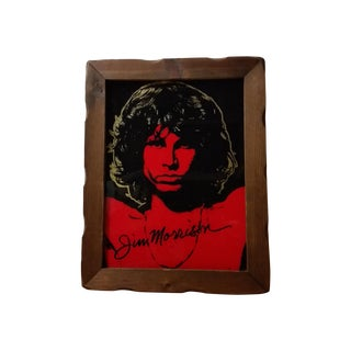1970 Jim Morrison Reverse Painting on Glass