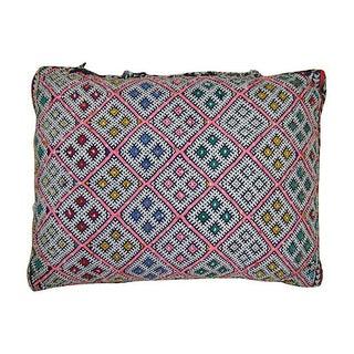 Boho Berber Pink & Blue Pillow Cover