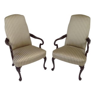 Cabot Wrenn Queen Ann Chairs Silk Fabric