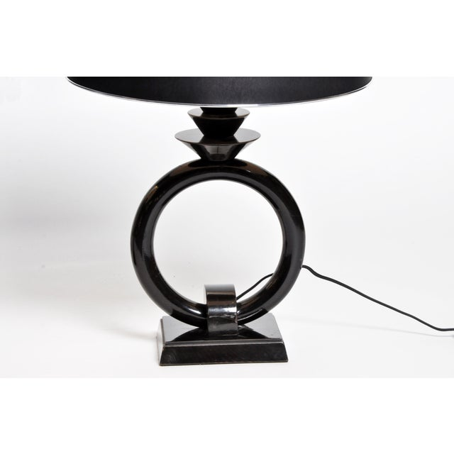 Pair of Mid-Century Lamps with Black Lacquer - Image 6 of 8