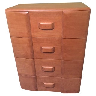 Heywood Wakefield Tall 4-Drawer Dresser