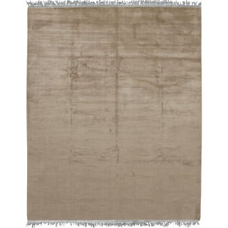 "Contemporary Simplicity Taupe/Blue Rug - 8'3"" X 11'8"""