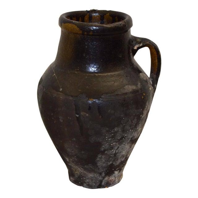 Greek Antique Pottery, Glazed Koyroypa - Image 1 of 4