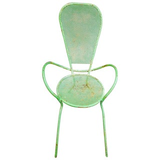 Rustic Green Metal Butterfly Chair