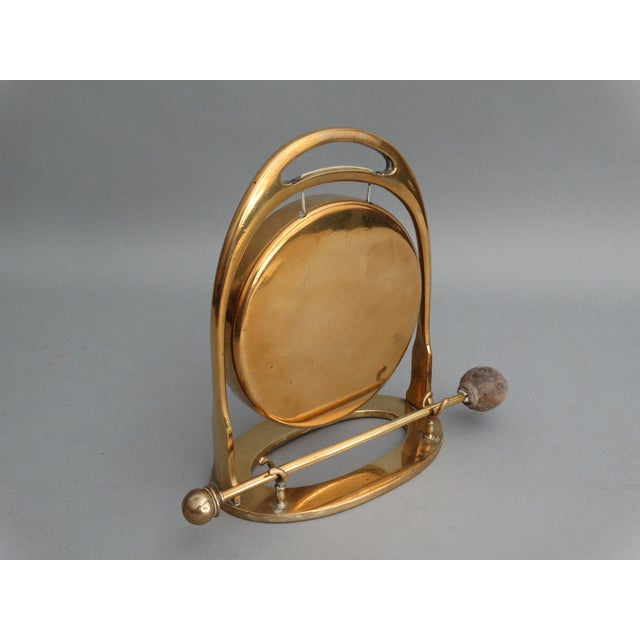 Art Deco Edwardian Brass Table Gong - Image 3 of 6