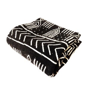 African Mali Black & White Mud Cloth Fabric