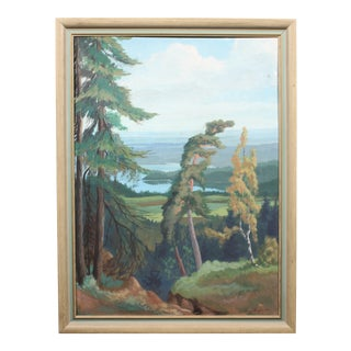 1947 Oil Painting 'Windswept'