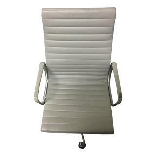 Herman Miller Eames White Leather Chair