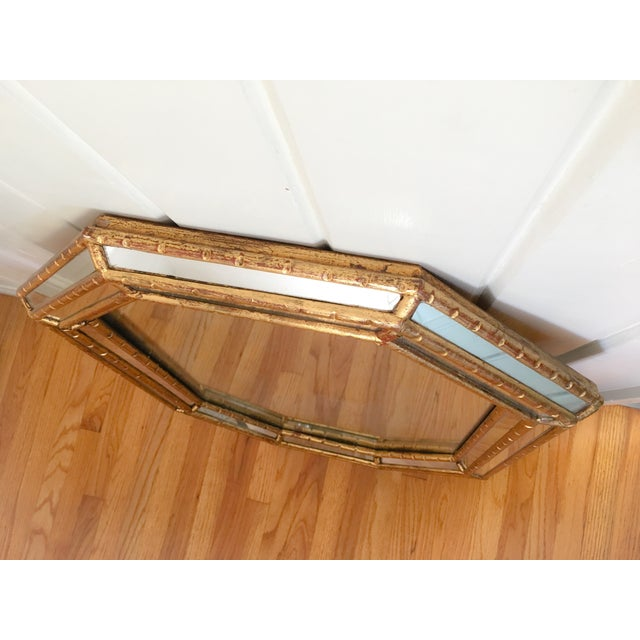 Hollywood Regency Faux Bamboo Gold Mirror - Image 4 of 11