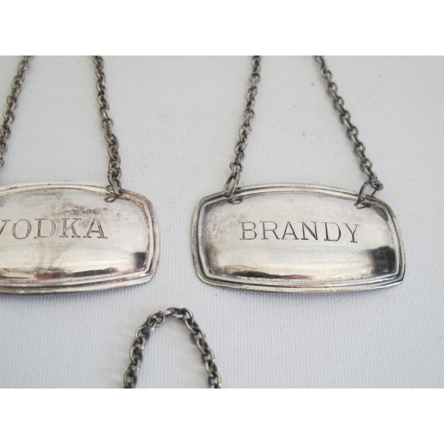 Silverplated Liquor Labels - Set of 5 - Image 6 of 9