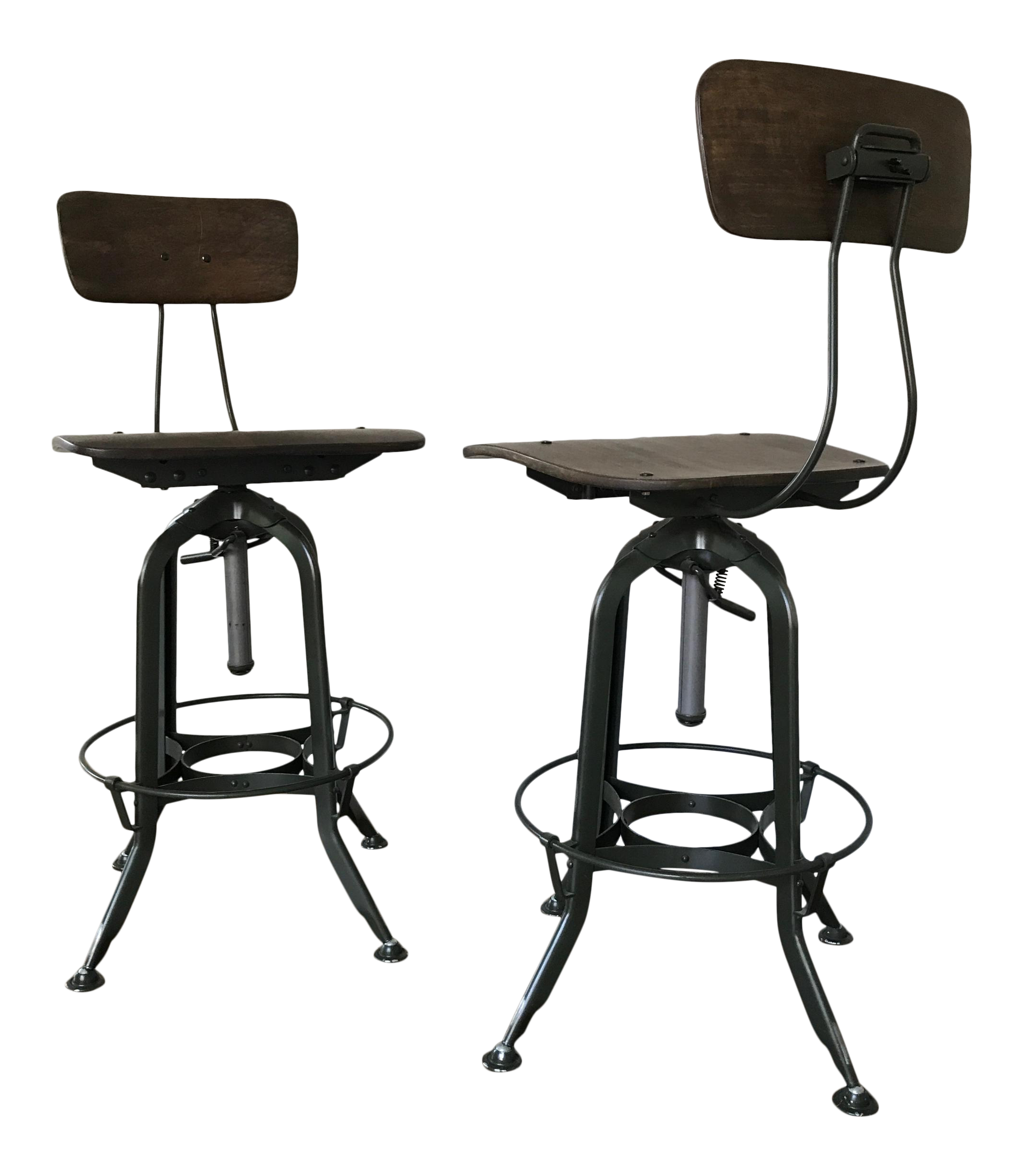 Vintage Restoration Hardware Toledo Bar Stools A Pair