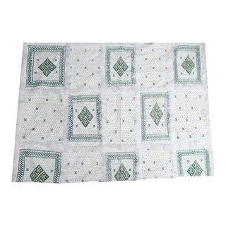 Beaded Green Berber Moroccan Wedding Blanket