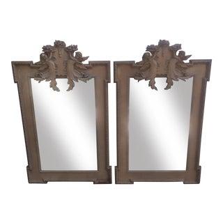 Vintage Cherub Wall Mirrors - A Pair