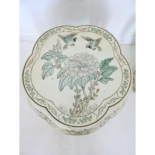 Vintage Oriental Garden Stools - a Pair - Image 4 of 8