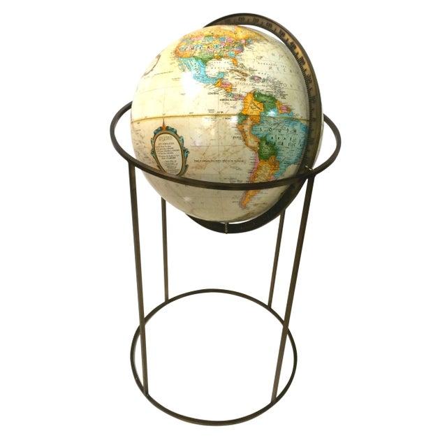 Image of Vintage Paul McCobb Globe on Brass Stand
