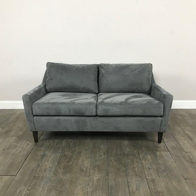 Microfiber Loveseat Sofa By West Elm Chairish