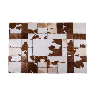 "Cowhide Patchwork Area Rug - 7'9"" X 5'11"""