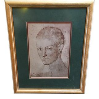 "Picasso ""Head of a Boy,"" Custom Framed Print"