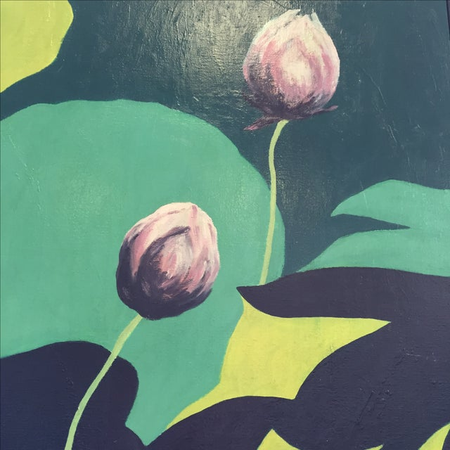 """Lotus Buds"" by Lillian M. Wada - Image 3 of 5"