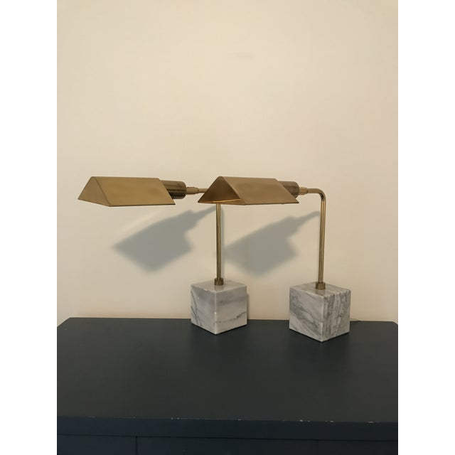Koch & Lowy Mid-Century Brass Table Lamps- a Pair - Image 2 of 11