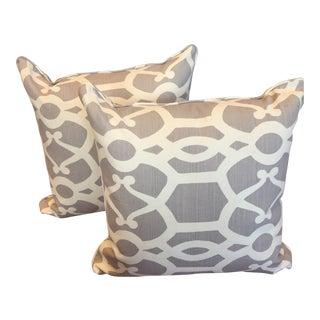 Lee Jofa Gray & White Pillows - A Pair