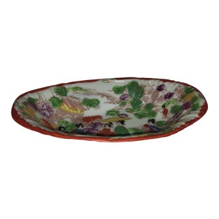 Japanese Porcelain Oblong Dish