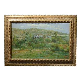 Andreas Roth -Luscious Montecito Estate - Oil painting - 1933