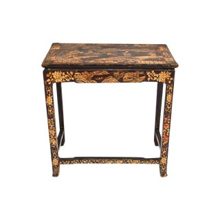 Antique Asian Carved Chinoiserie Table
