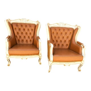 French Provincial Tufted Chairs - A Pair