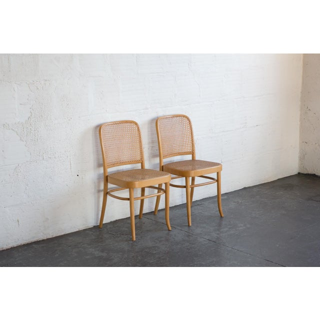 Prauge Cane Bentwood Woven Side Chairs - Set of 4 - Image 5 of 11