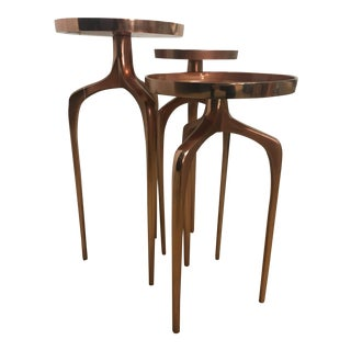 Rose Gold Side Tables - Set of 3