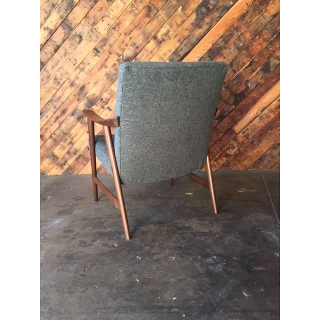 Adolf Relling Mid-Century Refinished Gray Chair - Image 6 of 6