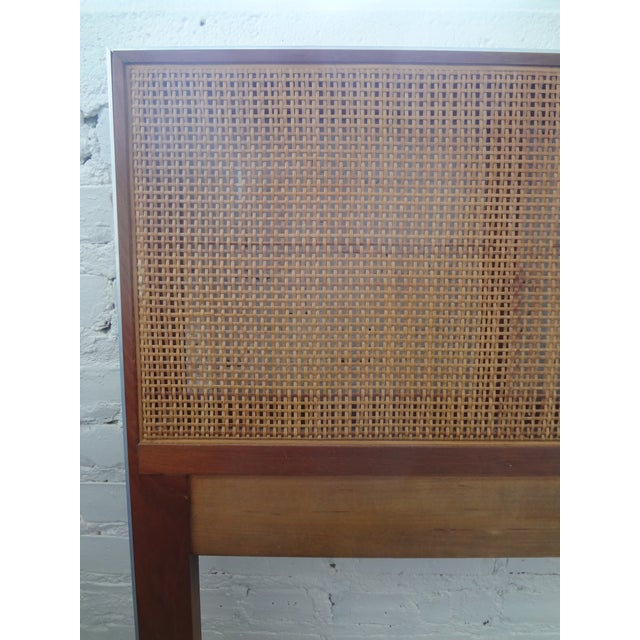 Walnut and Caned Full Headboard - Image 6 of 6