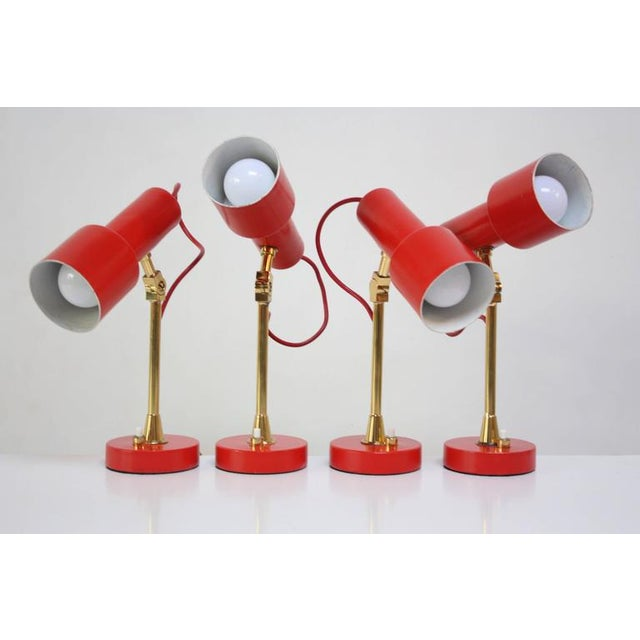 Pair of Mid-Century Italian Modern Petite Table Lamps / Sconces by Stilux - Image 4 of 11