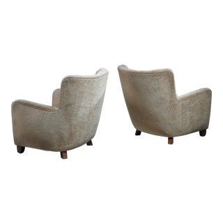 Pair of Danish club chairs, 1940s
