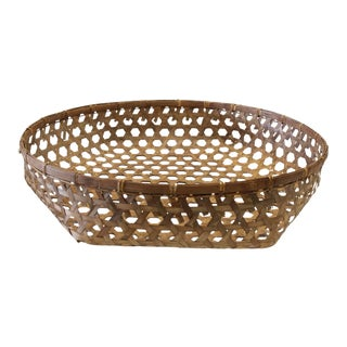 Large Antique Decorative Woven Basket
