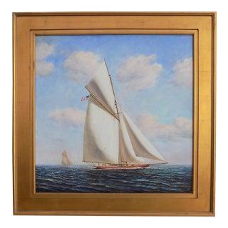 """D. Tayler """"Reaching Ahead"""" Oil Painting"""