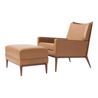 Paul mccobb lounge chair and ottoman for directional