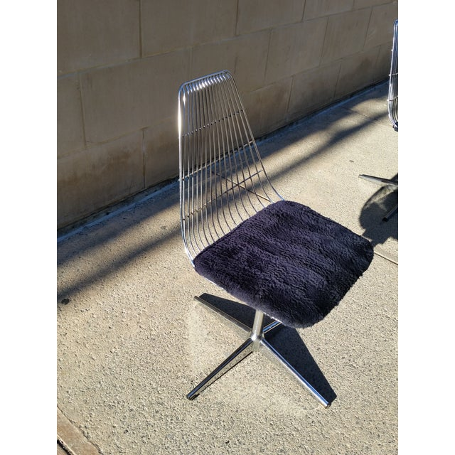 Blue Chromcraft Modern Chairs - Set of 4 - Image 6 of 8