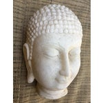 Image of Hand Chiseled Marble Head of Buddha Statue